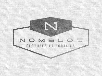 Nomblot nomblot logo concept construction concrete fence fences gates