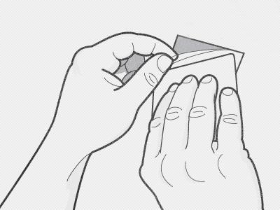 Sticker instructions sticker instructions manual vector hands