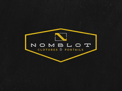 Nomblot logo logo nomblot construction fences gates concrete work solid quality