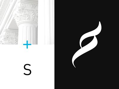 Syn logo symbol syn logo logotype symbol pictogram law lawyers tribunal clean minimal