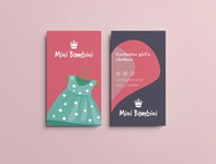 Business Card: Exclusive girl's clothes