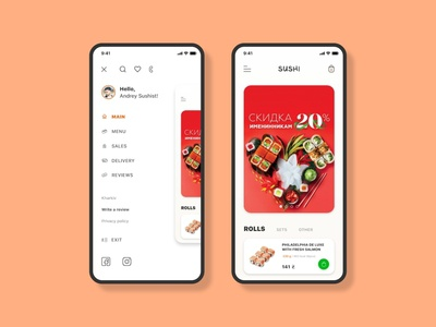 Sushi Food App UI