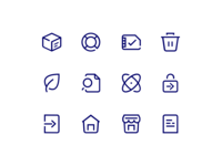 O2 Iconography telecommunication vector redesign icons dsgn studioecht o2 mobile operator iconography outline