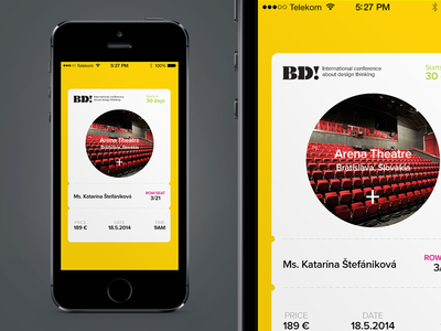 Mobile Ticket Idea for By Design Conference