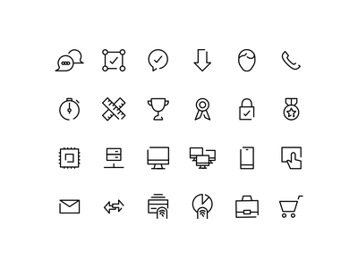 Iconography studioecht icons face tech outline iconography award vector finger print interrupted line
