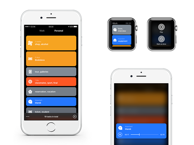 To-Do UI idea player lists ios ui app to do record sound task icons colors