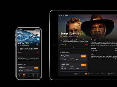 Cinema App – Detail darkui user interface mobile cinema concept ux ios app