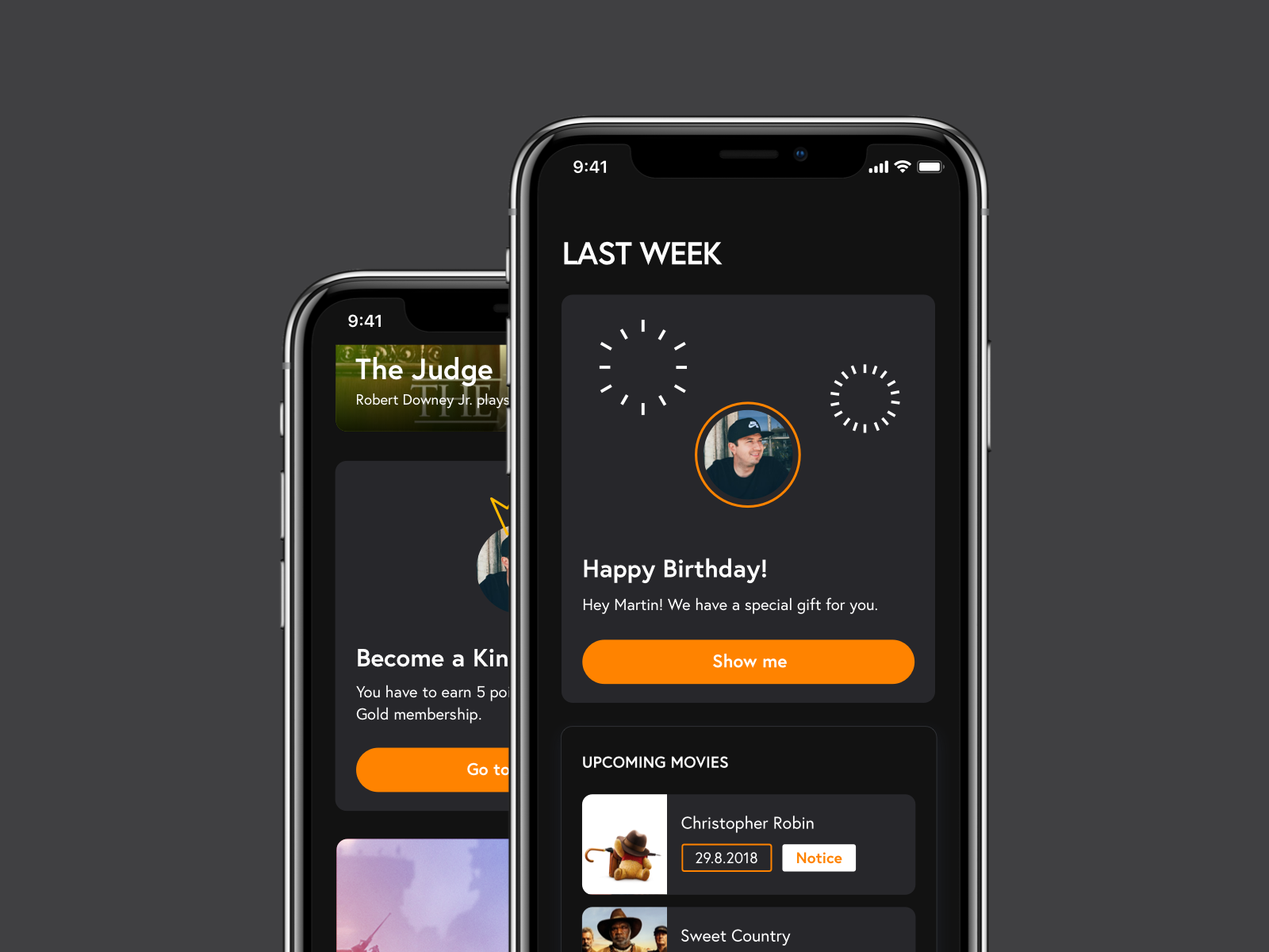 Cinema app   personalized feed