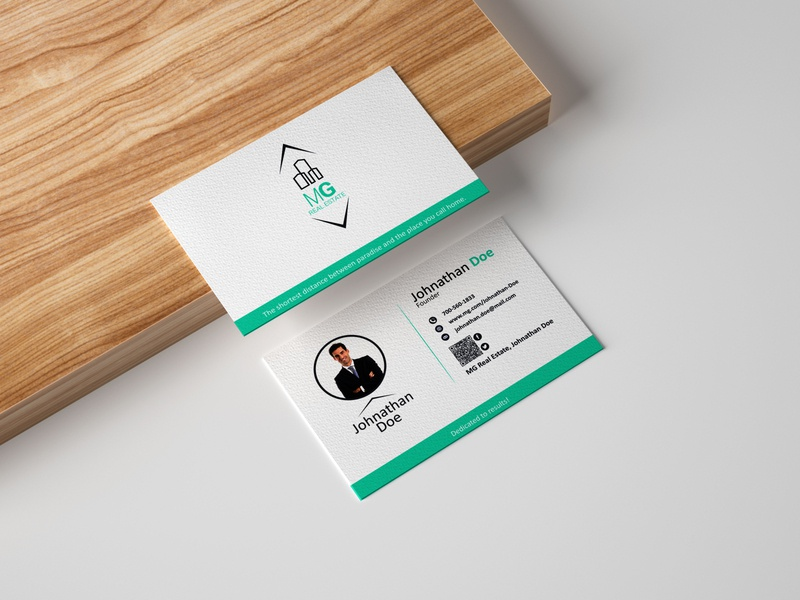 MG Business Card business card design branding logo design