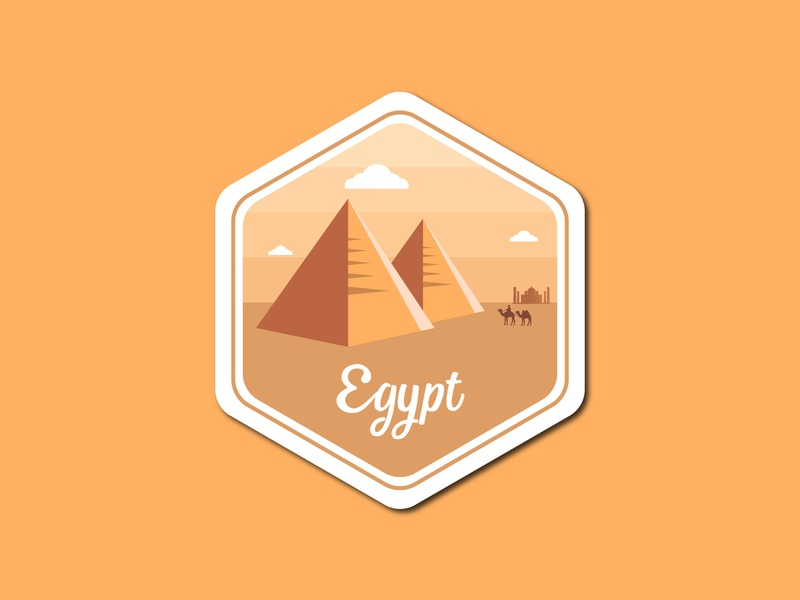 Egypt Badge Label badge design label design illustration design