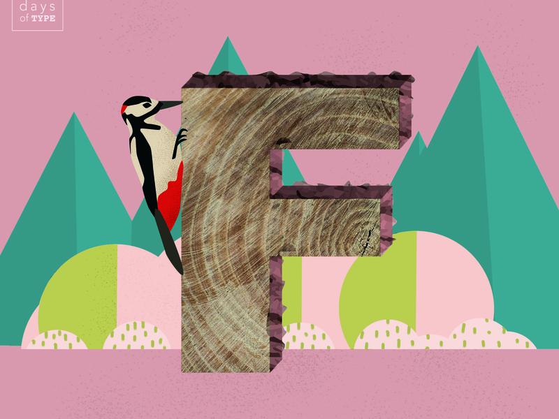 Letter F bird art geometric flat  design design letter f 36 days of type logotype graphic design drawing typography lettering illustration