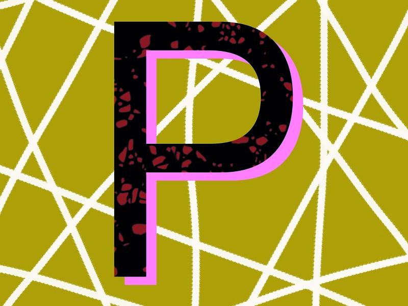 Letter P 3 branding letter p logo geometric logotype letter design icon logo design 36 days of type graphic design drawing typography lettering illustration