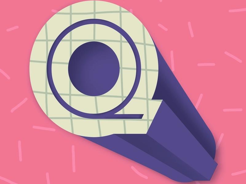Letter Q letter q vector artwork abstract letter geometric flat  design line art letter design logo design type icon 36 days of type logotype graphic design design drawing typography lettering illustration