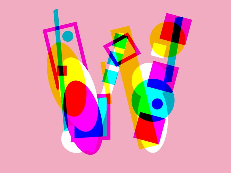 Letter W branding logo artwork abstract geometric letter art line art flat  design letter design icon type logotype design 36 days of type graphic design drawing typography lettering illustration