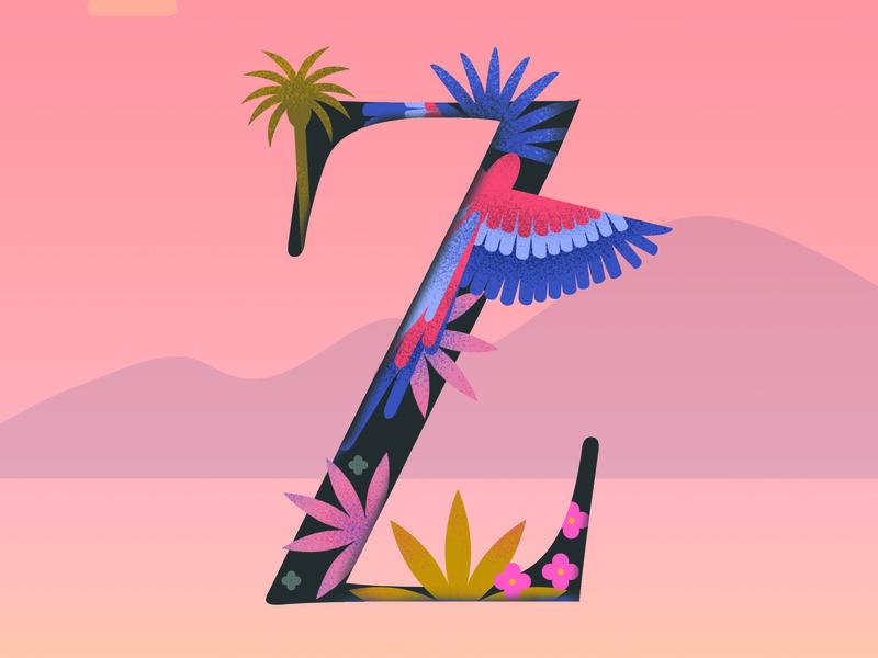 Letter Z greenhouse logo branding abstract artwork geometric letter flat  design letter design logo design icon type logotype design 36 days of type graphic design drawing typography lettering illustration
