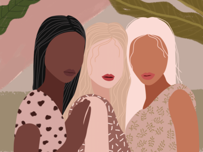 Woman Power art illustrations graphics free graphic ux ui love woman girls photoshop illustrator flat  design branding icon logo design graphic design drawing design illustration