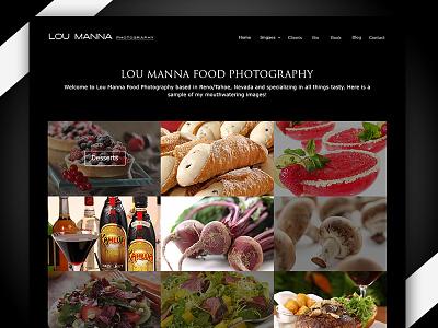 loumana website for food photography ui website design