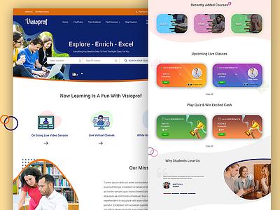 Visioprof Online learning website illustration ui webdesign