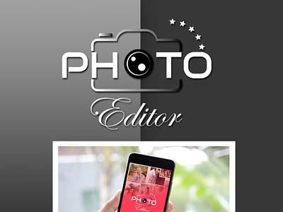photoeditor logo branding typography vector design logo