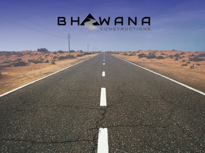 Bhawana Constructions logo illustration icon vector design logo