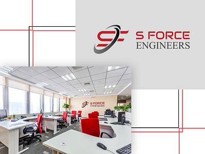 S Force Engineers Logo typography design logo
