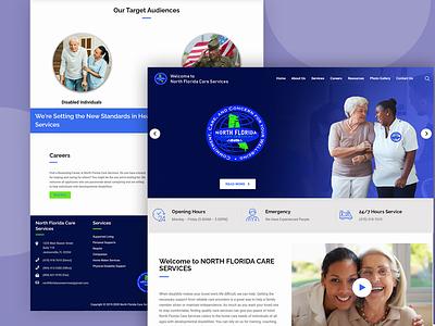 florida care services WebDesign web webdesign typography design ui