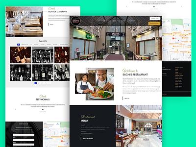 sachis restaurent webdesign ux typography design ui