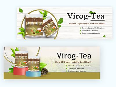 Banner for Virog Tea Products photoshop design