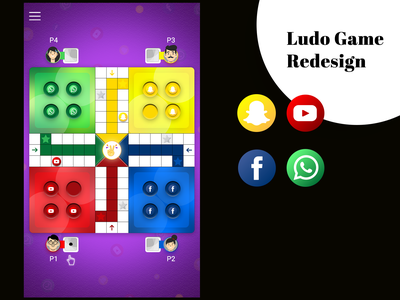 Redesign the Game Screen of Ludo poster design vector app ux icon ui typography design