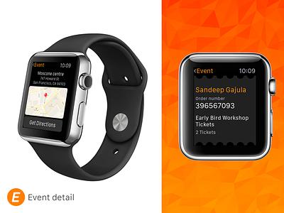 Eventbrite  Watch - Event Detail 2 concept event detail events watch os apple apple watch eventbrite