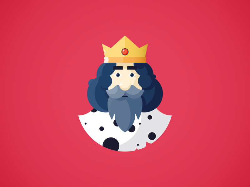 King king vector ui simple minimal illustration icon graphic flat drawing digital design creative colorful color clean character blue art 2d