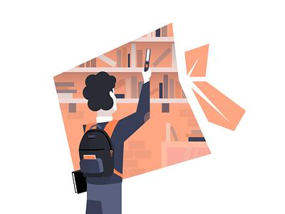 library illustration 2020 08 10 background ui vector simple minimal illustration graphic flat drawing digital design creative color clean character artwork art 2d