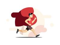Running man illustration