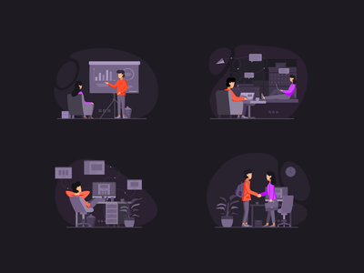 Team Work & Finance Illustrations Pack adobe illustrator web vector theme style minimal graphic flat clean character adobe xd art dribbble illustration drawing creative color ui 2d