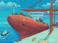 IOTA Container Ship illustration