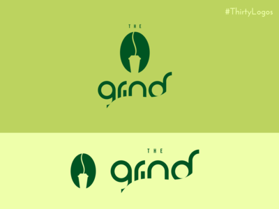 Thirty Logos - The Grind - Coffee Shop Logo