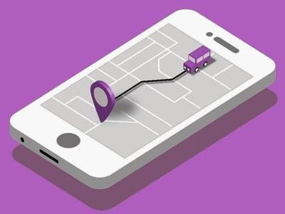 GPS Tracking Isometric Illustration
