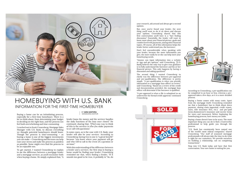 Home Buyer Magazine Spread print design print magazine