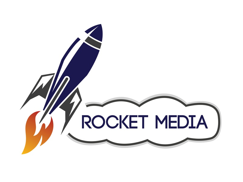 Rocket Media Logo Design branding logo