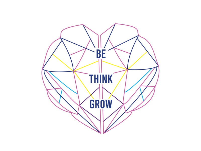 Be Think Grow Logo Design design logo mental health