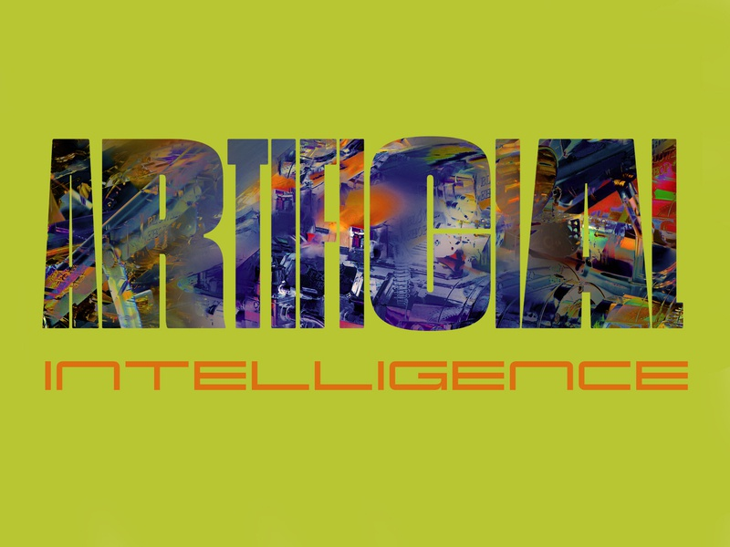 Artificial Intelligence glitchart glitch illustration typography type design