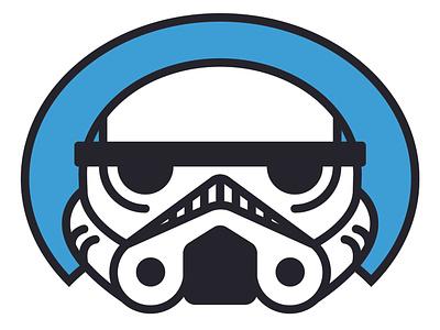 Stormtrooper mask helmet buckethead trooper stormtrooper portrait cute headshot illustrator illustration star wars starwars