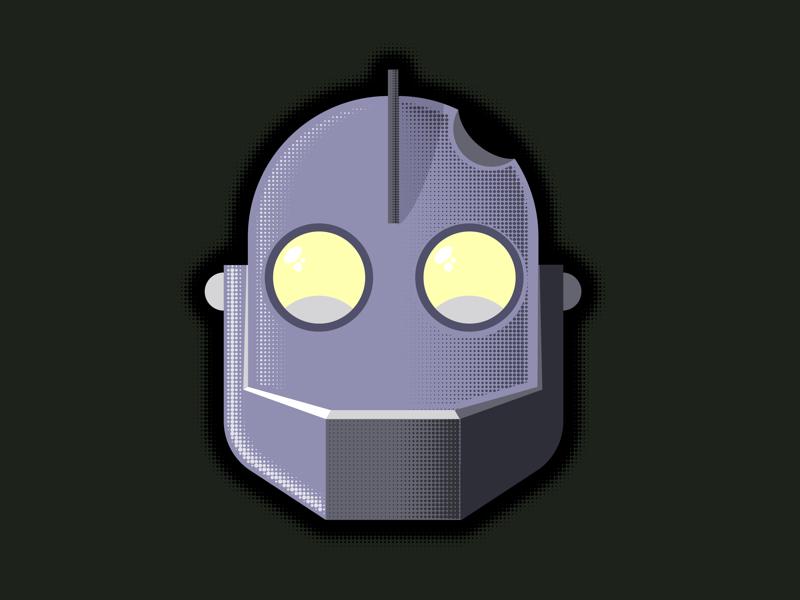 Iron giant illustrator robot iron giant