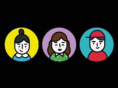 Avatars - poli line illustration avatar