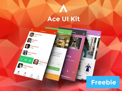Ace iOS 8 UI Kit Freebie freebie ios iphone app design ui design ui free photoshop template psd
