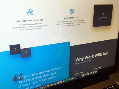 testimonials lawyer ux ui web design icon landing page shadow card slider quote testimonial