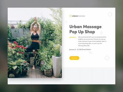Urban Massage Pop Up urban massage mobile web design website wellness landing page landing responsive web ux ui