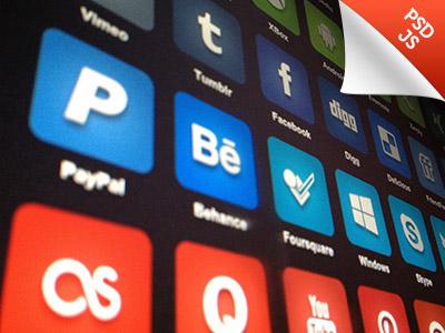 #50C1AL - PSD & JS follow share javascript js freebie psd icon social