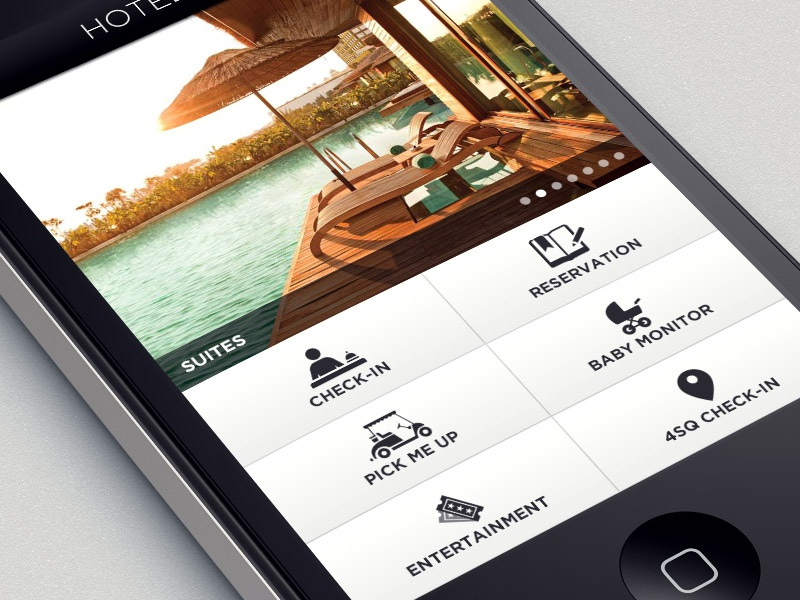 Hotel Dashboard hotel luxury iphone ios app mobile dashboard