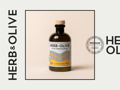 Herb & Olive CBD Olive Oil product photography studio photography cbd oil cbd branding packaging label design recycled glass package design olive oil
